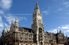 Edificio del ayuntamiento en Munich Imagenes de archivo
