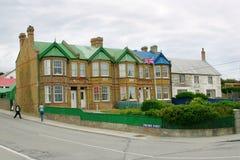 Edificio del ayuntamiento en Stanley portuario, Malvinas Imagen de archivo libre de regalías