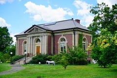 Edificio del campus de la universidad del Mt Holyoke fotografía de archivo