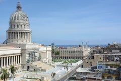 Edificio del capitolio con el andamio Fotografía de archivo libre de regalías