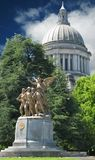Edificio del capitolio con la bóveda Olympia Washington fotos de archivo