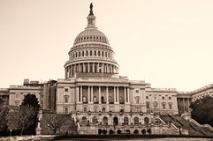 Edificio del capitolio de Estados Unidos Fotografía de archivo libre de regalías