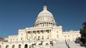 Edificio del capitolio de Estados Unidos, Washington, DC almacen de metraje de vídeo