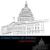 Edificio del capitolio de los Estados Unidos de América Imagen de archivo libre de regalías