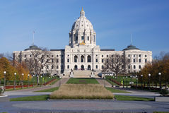 Edificio del capitolio de Minnesota Foto de archivo libre de regalías