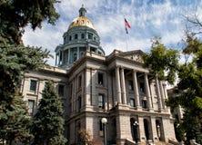 Edificio del capitolio del estado de Colorado en Denver céntrica Fotografía de archivo libre de regalías
