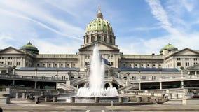 Edificio del capitolio del estado de Harrisburg Pennsylvania almacen de video