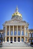 Edificio del capitolio del estado de Iowa imagenes de archivo
