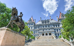 Edificio del capitolio del Estado de Nueva York, Albany Fotos de archivo