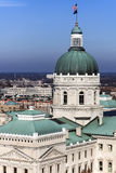 Edificio del capitolio del estado - Indianapolis, Indiana Foto de archivo libre de regalías