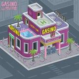 Edificio del casino stock de ilustración