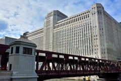 Edificio del centro comercial de mercancía de Chicago Imágenes de archivo libres de regalías