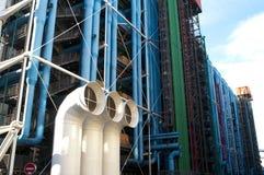 Edificio del centro de Pompidou, París, Francia foto de archivo
