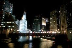 Edificio del Chicago Wrigley Immagini Stock Libere da Diritti