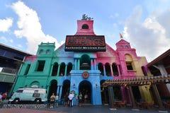 Edificio del color Imágenes de archivo libres de regalías