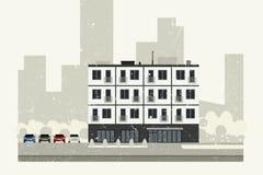 Edificio del condominio ilustración del vector