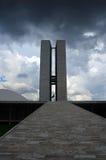 Edificio del congreso en Brasilia Imagen de archivo libre de regalías