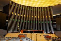 Edificio del congreso en Brasilia Imágenes de archivo libres de regalías