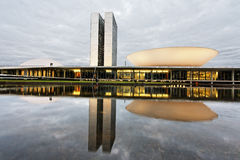Edificio del congreso en Brasilia fotos de archivo libres de regalías