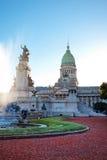 Edificio del congreso en Buenos Aires fotos de archivo