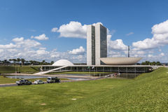 Edificio del congreso nacional - Brasilia - DF - el Brasil Fotografía de archivo libre de regalías