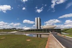 Edificio del congreso nacional - Brasilia - DF - el Brasil Imágenes de archivo libres de regalías