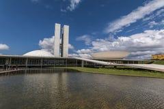 Edificio del congreso nacional - Brasilia - DF - el Brasil Fotos de archivo libres de regalías
