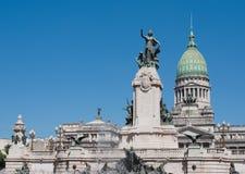 Edificio del congreso nacional, Buenos Aires, la Argentina Fotografía de archivo libre de regalías