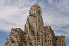 Edificio del corridoio di città della Buffalo NY Fotografia Stock Libera da Diritti