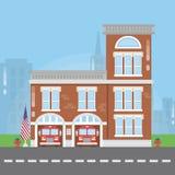 Edificio del cuerpo de bomberos Imagen de archivo