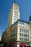 Edificio del déco del arte en Madrid Imágenes de archivo libres de regalías
