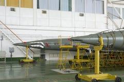 Edificio del ensamblaje del cohete de espacio de Soyuz. fotos de archivo