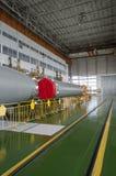 Edificio del ensamblaje del cohete de espacio de Soyuz foto de archivo libre de regalías