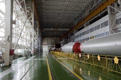 Edificio del ensamblaje del cohete de espacio de Soyuz imagen de archivo