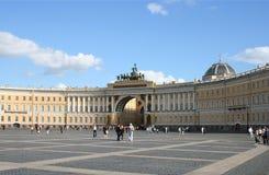 Edificio del estado mayor general, cuadrado del palacio Imagen de archivo libre de regalías