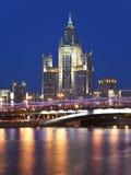 Edificio del estilo del imperio de Stalin Fotos de archivo libres de regalías