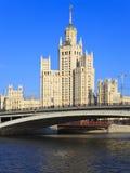 Edificio del estilo del imperio de Stalin Fotografía de archivo