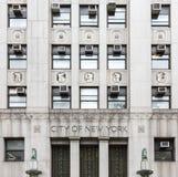 Edificio del gobierno de la ciudad de Nueva York Imágenes de archivo libres de regalías