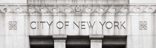 Edificio del gobierno de la ciudad de Nueva York Fotos de archivo libres de regalías