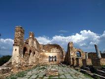 Edificio del griego clásico fotografía de archivo