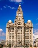 Edificio del hígado de Liverpool Fotos de archivo libres de regalías