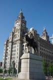 Edificio del hígado de Liverpool Foto de archivo libre de regalías