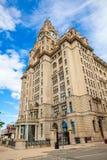 Edificio del hígado, Liverpool, Reino Unido Imagen de archivo