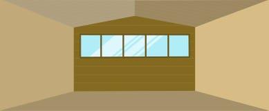 Edificio del hangar de Warehouse Fotografía de archivo libre de regalías