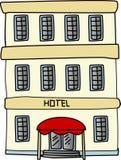 Edificio del hotel ilustración del vector