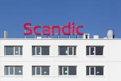 Edificio del hotel de Scandic en Dinamarca Imágenes de archivo libres de regalías