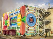 Edificio del laboratorio del atlas en la CERN Fotos de archivo libres de regalías
