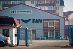 Edificio del mensajero de la fan Fotos de archivo libres de regalías