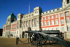 Edificio del Ministerio de marina en Whitehall en los protectores de caballo P Imágenes de archivo libres de regalías