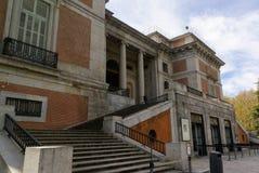 Edificio del museo de Prado Foto de archivo